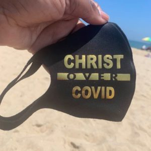 Christ Over Covid Mask and Tee Shirt Combo