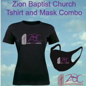 Zion Baptist Church Tshirt and Mask Combo